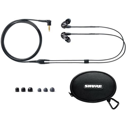 SHURE 耳道式耳機 SE215-K-KCE 黑