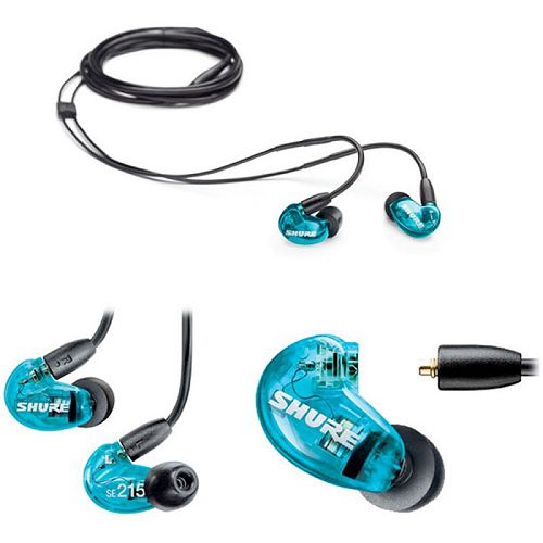 SHURE 耳道式可換線耳機 Special Edition SE215SPE-A 藍