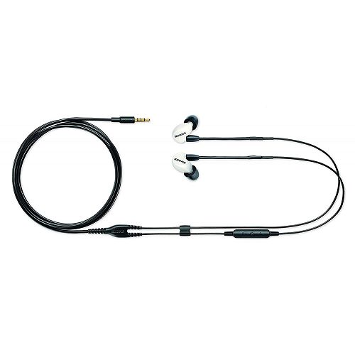 SHURE 耳道式可換線線控耳機 Special Edition SE215M+SPE-A 白
