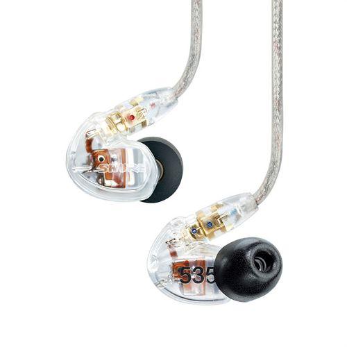 SHURE 耳道式三單體隔音耳機 SE535-CL-KCE 透明