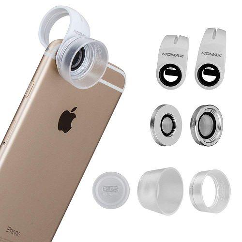MOMAX ^10x/15x/30x 鋁金屬手機微距鏡頭套裝 銀