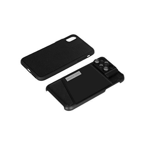 MOMAX ^iPhone X 6合1 鏡頭組合保護殼 黑