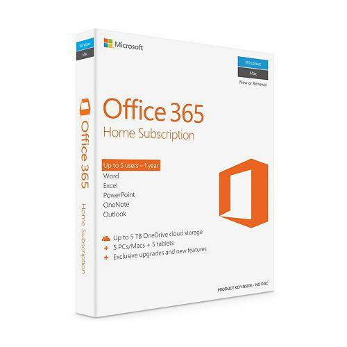 Microsoft Office 365 Home Prem 32/64 English software