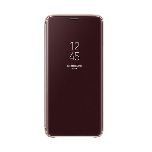 Samsung S9+ 鏡面透視感應皮套  Gold