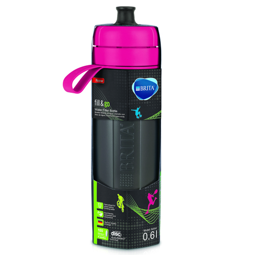 BRITA 運動濾水瓶 粉紅色 FILL & GO ACTIVE