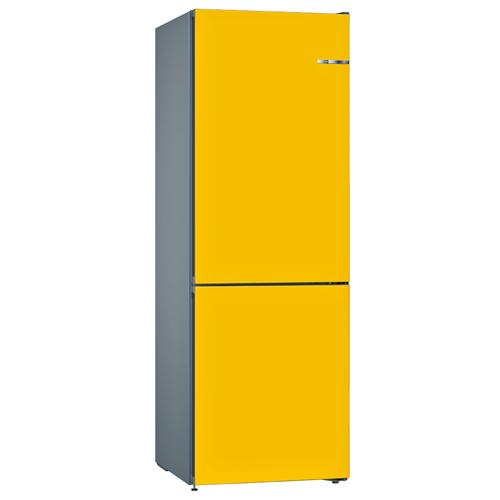 BOSCH 324L雙門雪櫃/配可更換門板 KVN36IF3AK-朝日黃色