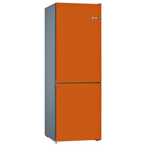 BOSCH 324L雙門雪櫃/配可更換門板 KVN36IO3AK-鮮橙色