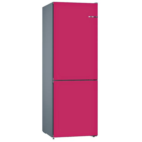 BOSCH 324L雙門雪櫃/配可更換門板 KVN36IE3AK-野莓紅色