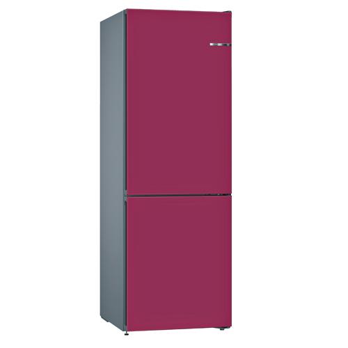 BOSCH 324L雙門雪櫃/配可更換門板 KVN36IL3AK-紫紅色