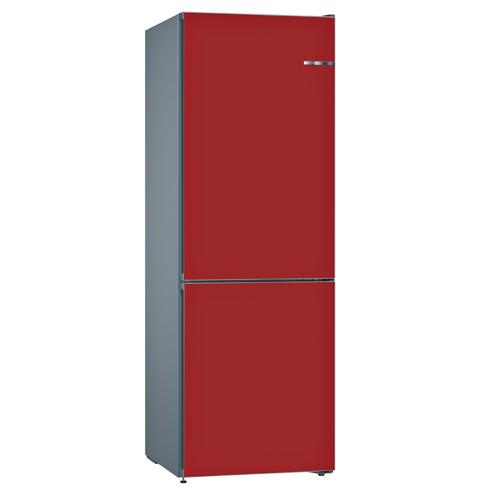 BOSCH 324L雙門雪櫃/配可更換門板 KVN36IR3AK-櫻桃紅色