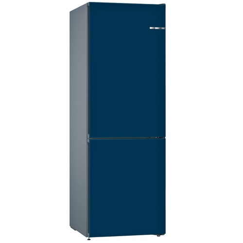 BOSCH 324L雙門雪櫃/配可更換門板 KVN36IN3AK-星夜藍