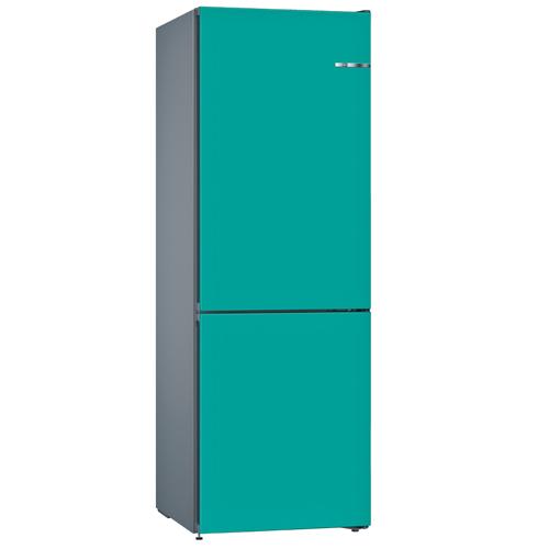 BOSCH 324L雙門雪櫃/配可更換門板 KVN36IA3AK-湖水藍