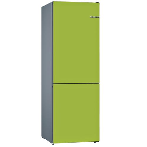 BOSCH 324L雙門雪櫃/配可更換門板 KVN36IH3AK-青檸綠