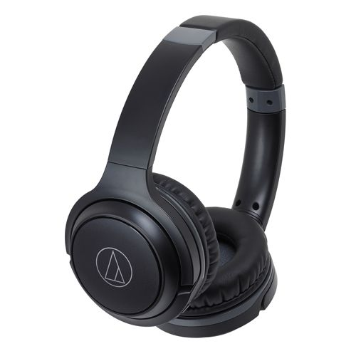 audio-tech Wireless Portable On-Ear Headphones 黑 ATH-S200BT BK