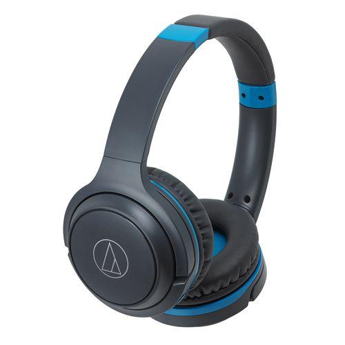 audio-tech Wireless Portable On-Ear Headphones 灰藍 ATH-S200BT GBL