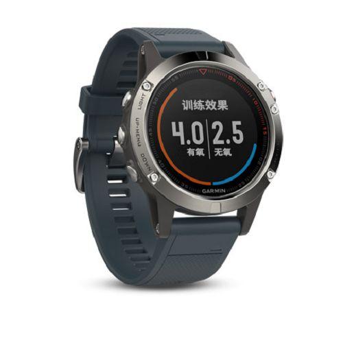 GARMIN Fenix 5 GPS多元風尚款腕錶[簡體版] Sapphire Silver