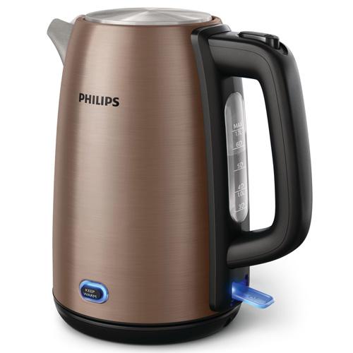 PHILIPS 1.7L不鏽鋼電熱水煲 HD9355 銅色