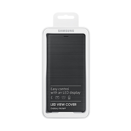 Samsung NOTE9 LED翻頁式皮套 Black