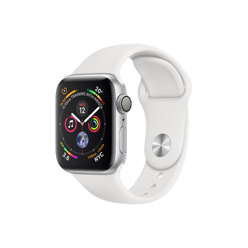 APPLE Watch S4 GPS 40mm Silver/White Sport Band