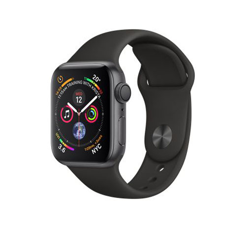 APPLE Watch S4 GPS 40mm Space Grey/Black Sport Band