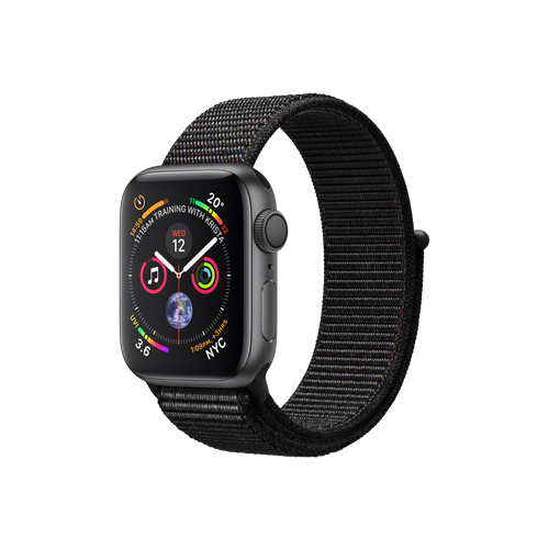 APPLE Watch S4 GPS 40mm Space Grey/Black Loop