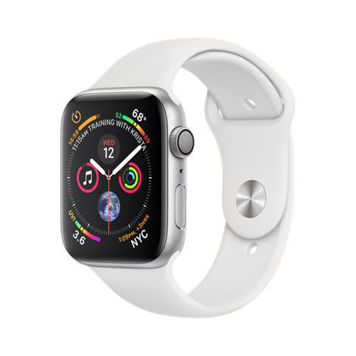 APPLE Watch S4 GPS 44mm Silver/White Sport Band