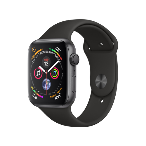 APPLE Watch S4 GPS 44mm Space Grey/Black Sport Band