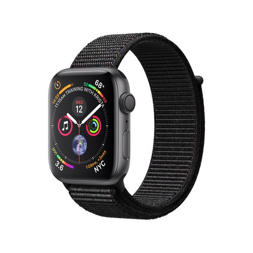 APPLE Watch S4 GPS 44mm Space Grey/Black Loop