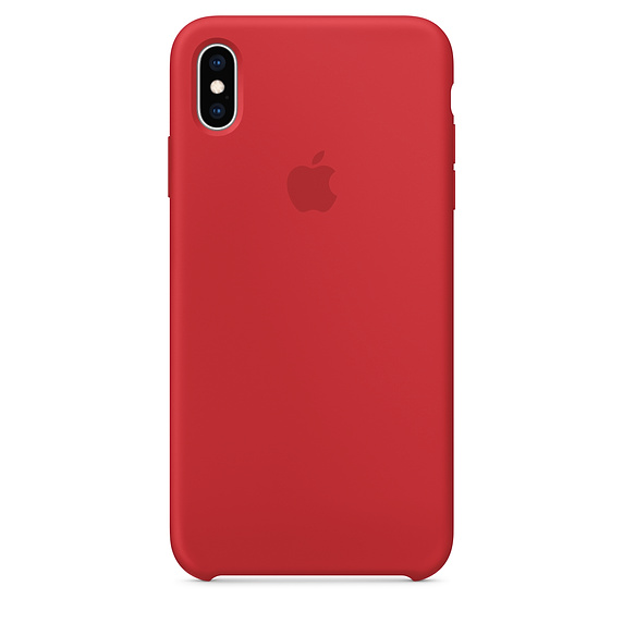 APPLE [i]iPhone XS Max Silicone Case  RED