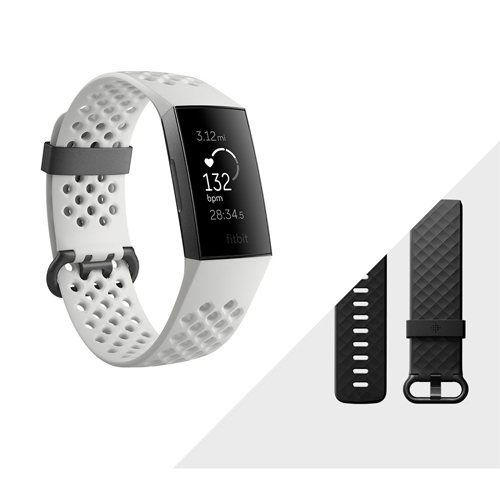 Fitbit charge 3 Frost White Sport/Graphite Special Edition