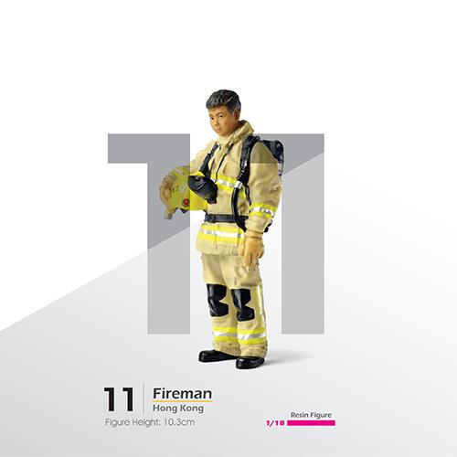 Tiny微影 樹脂公仔 11 消防員[手執帽][1:18]
