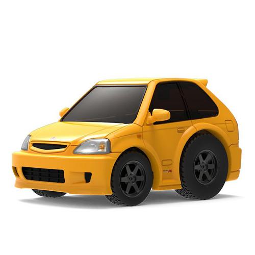 Tiny Q 本田Civic EK9 黃色Black Wheel