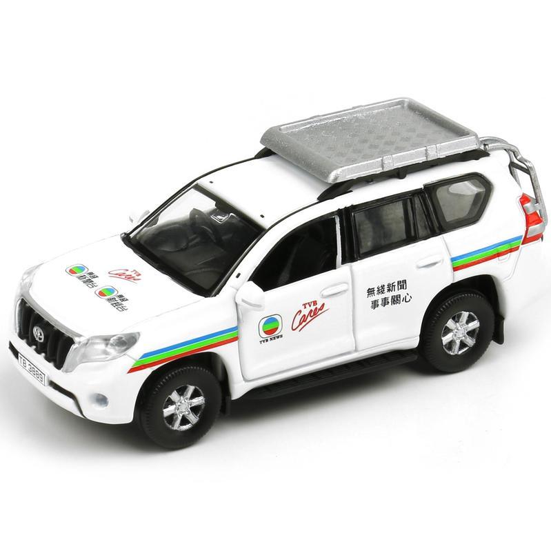 Tiny微影 121 豐田Prado TVB新聞吉普車