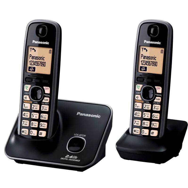 PANASONIC 雙機無線電話 KX-TG3712BX3黑