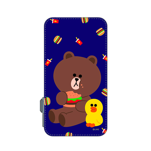 LINE 8000mAh PowerBank BROWN+SALLY