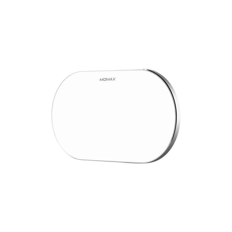 MOMAX Q.Pad Pro四線圈快速無線充電板[雙機;10W] 白