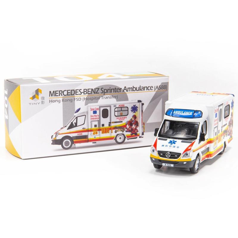 Tiny微影 104 平治Sprinter轉院救護車[A588]