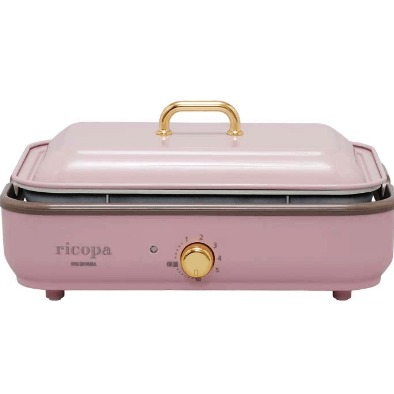 IRISOHYAMA RICOPA多功能烤盤 MHP-R102粉紅