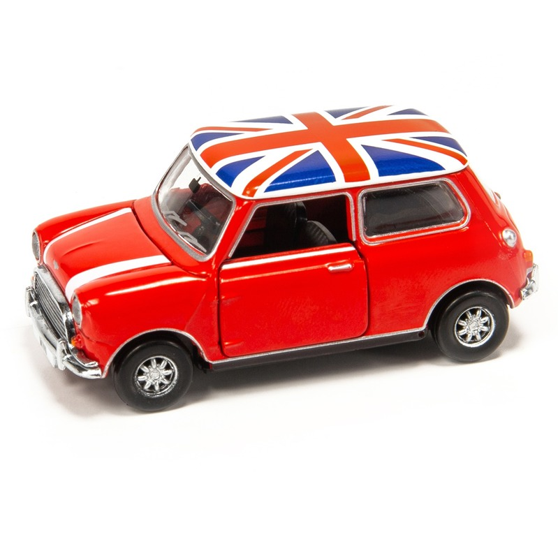 Tiny微影 153 Mini Cooper英國旗頂白引擎蓋紋[右駕]