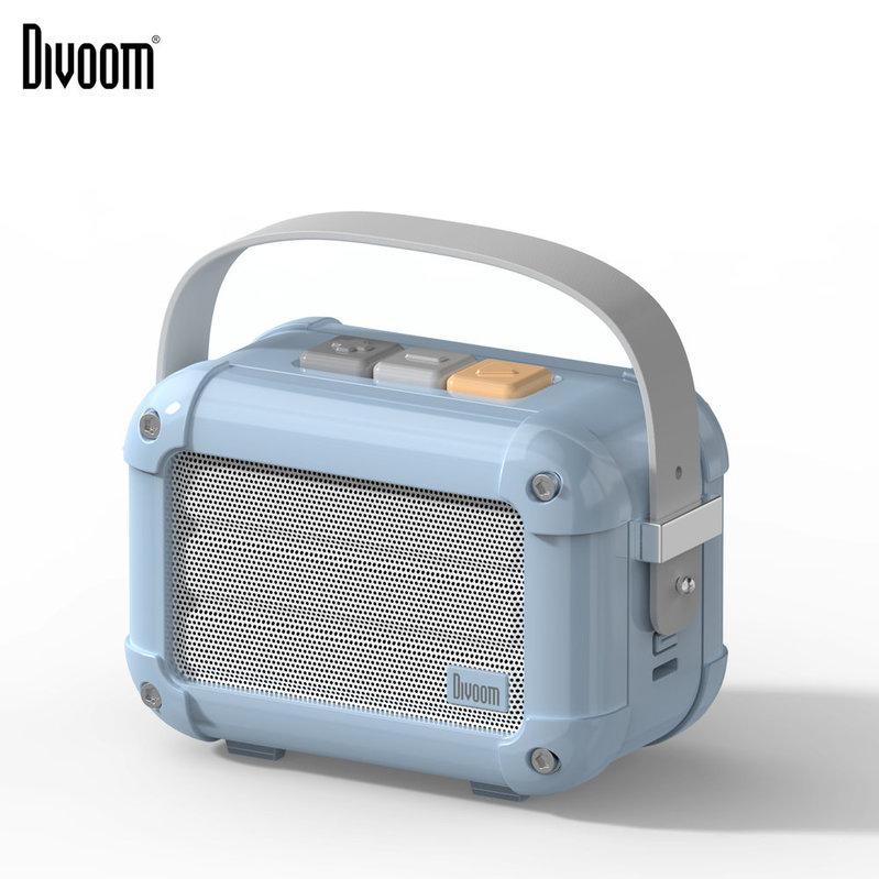 Divoom Macchiato 6W 藍牙復古音箱[配FM功能] Airy Blue