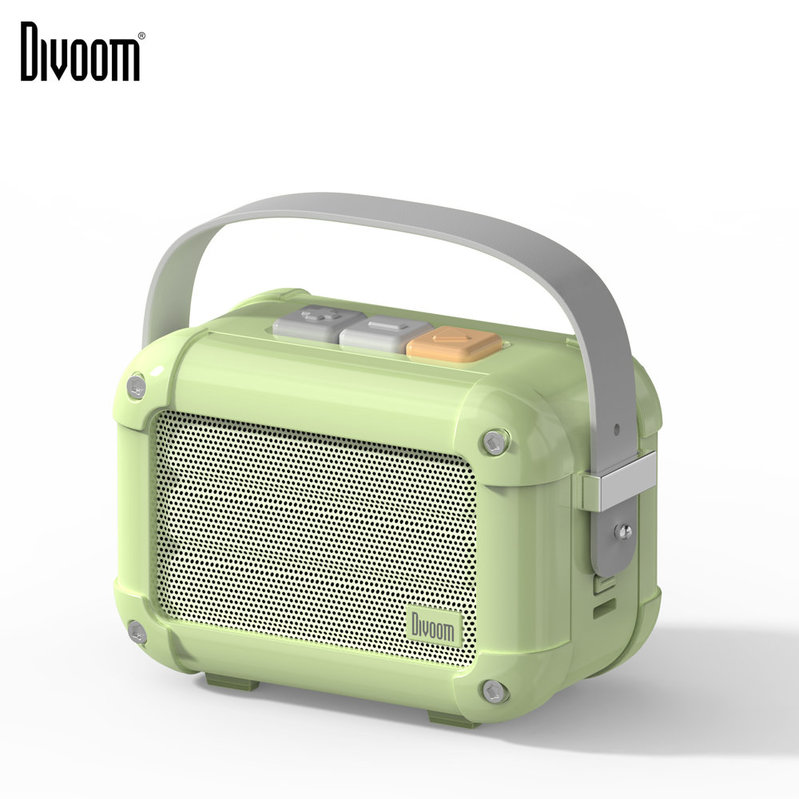 Divoom Macchiato 6W 藍牙復古音箱[配FM功能] Matcha Green