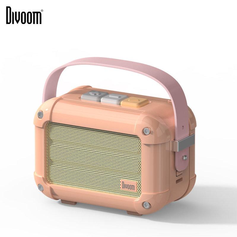 Divoom Macchiato 6W 藍牙復古音箱[配FM功能] Royal Pink