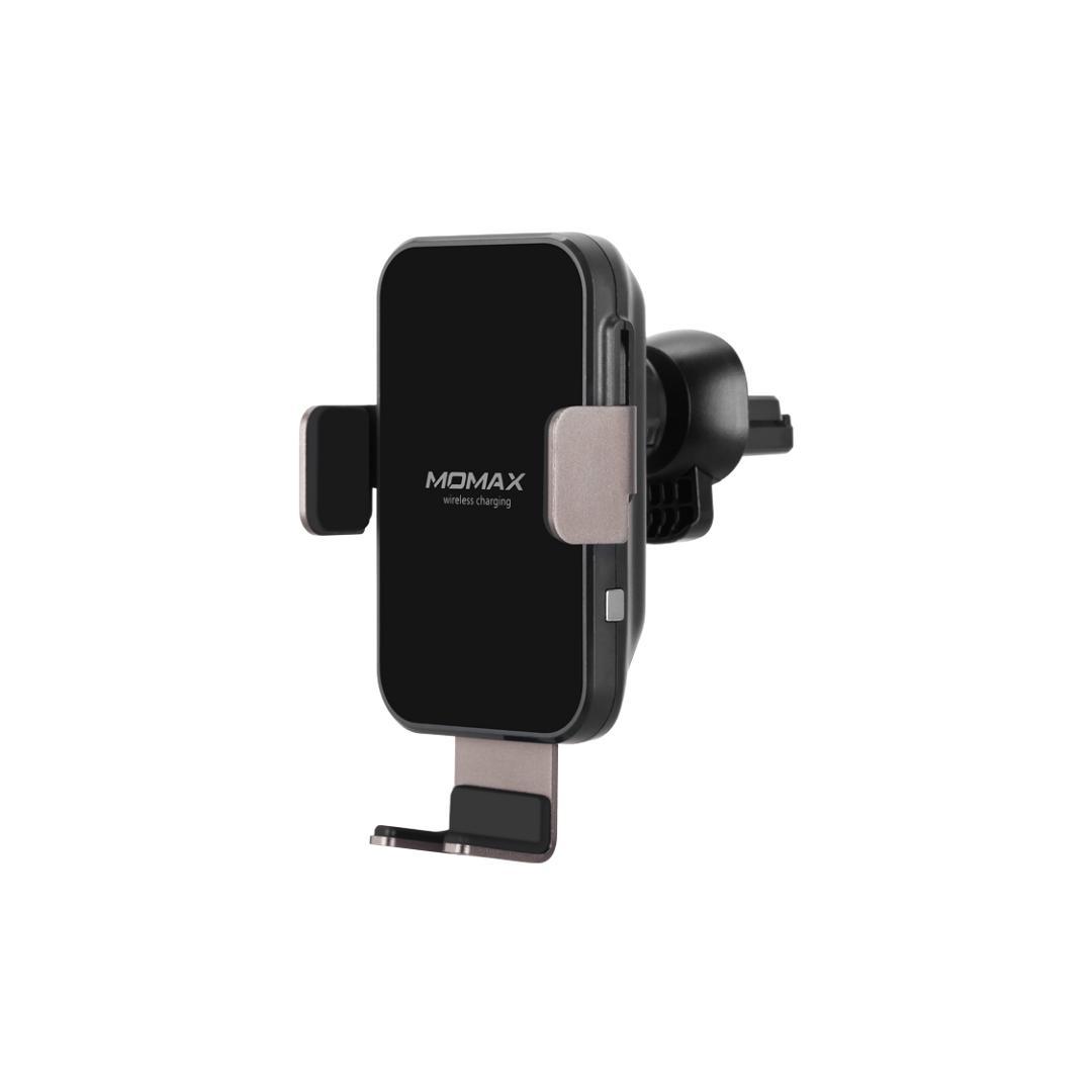 MOMAX Q.Mount Smart重力無線智能車充支架 黑 [自動鎖緊手機]