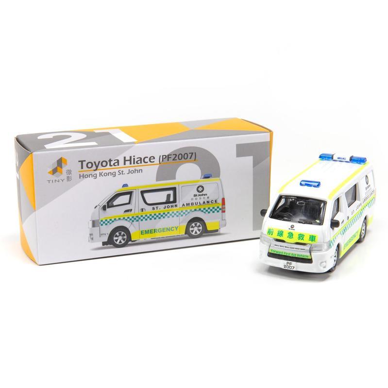 Tiny微影 21 豐田Hiace 聖約翰救傷車