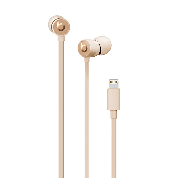 Beats urBeats3 Earphones w/Lightning Connect. Satin Gold
