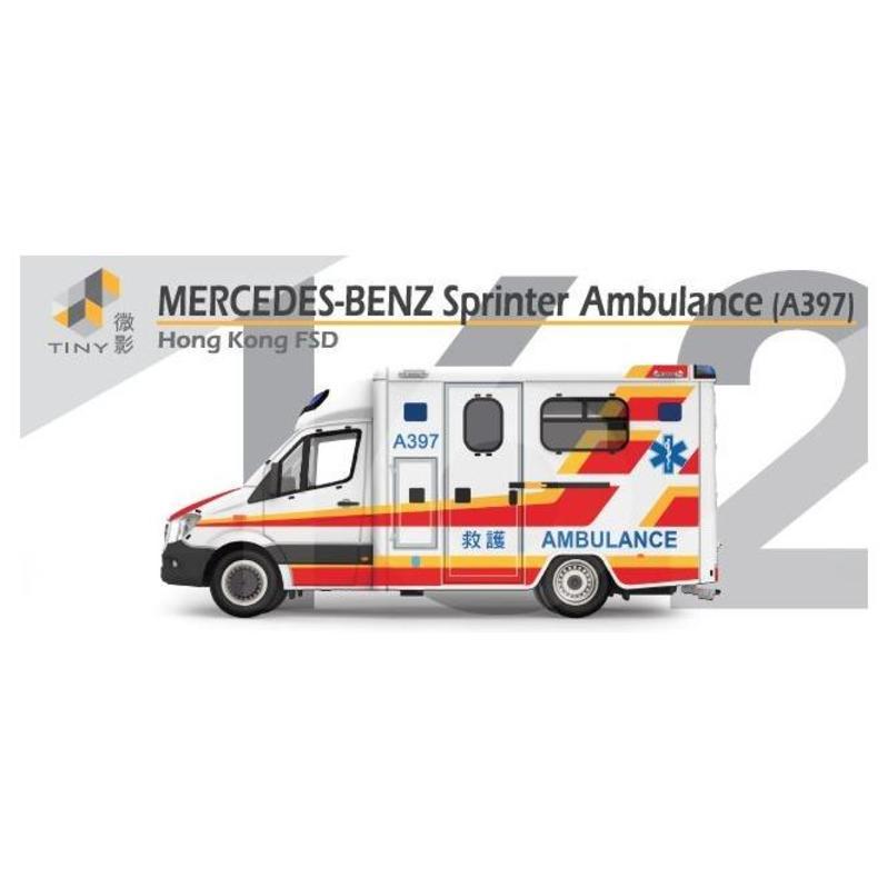 Tiny微影 162 平治Sprinter Facelift 救護車[A397]