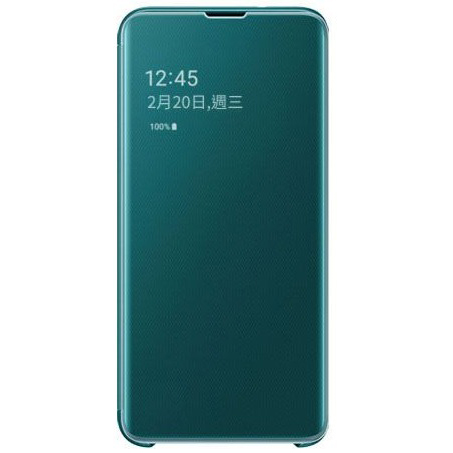 Samsung S10e 鏡面透視感應皮套 green