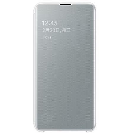 Samsung S10e 鏡面透視感應皮套 white