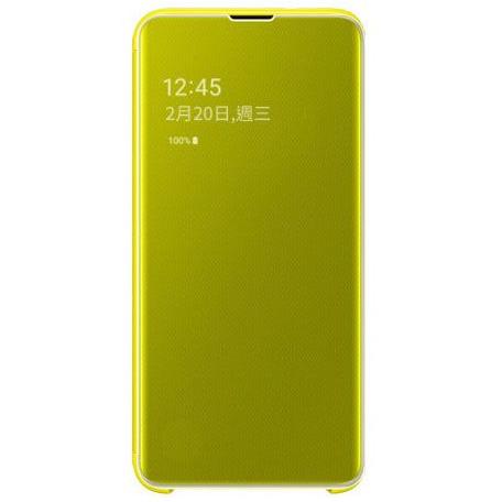 Samsung S10e 鏡面透視感應皮套 yellow