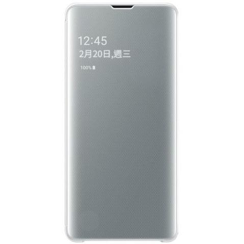 Samsung S10 鏡面透視感應皮套 white